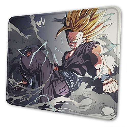 Gohan Non-Slip Mousepad Gaming Computer Mouse Pad Gaming Desktop Laptop Mouse Pad with Stitched Edge 10x12 in