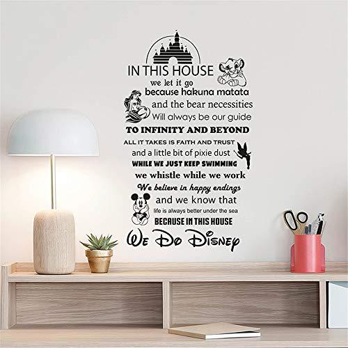 wandaufkleber 3d Wandtattoo Wohnzimmer Zeichen Zitat Schloss für Kinderzimmer Geschenk Kinderzimmer Dekor Spielzimmer Dekor