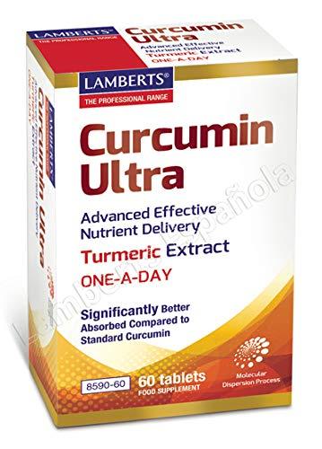 Lamberts Curcumin Ultra Suplemento, Blanco, 60 Tabletas