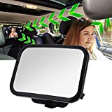 Bébé Siège arrière miroir, 360° réglable arrière de voiture de miroir pour nouveau-nés et les jeunes enfants, Crash...