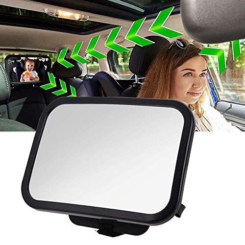 Bébé Siège arrière miroir, 360 ° réglable arrière de voiture de miroir pour nouveau-nés...