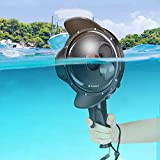 D&F Underwater Dome Port for GoPro Hero 7 Black/Hero 6/Hero 5/Hero(2018), 30M/98ft Waterproof Dome Lens Intergrate Normal/Macro Lens/Red Filter 3 Modes Housing Case Photograph Accessories