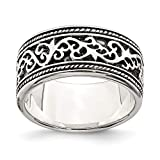 925 Sterling Silver Solid Engravable Band Size 10 Jewelry Gifts for Women
