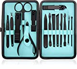 15-Piece Manicure Set for Women Men Nail Clippers Stainless Steel Manicure Kit - Portable Travel Grooming Kit - Facial, Cuticle and Nail Care