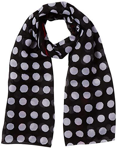 s.Oliver Damen 39.901.91.4847 Schal, Grau (Grey/Black AOP 99b2), One Size (Herstellergröße: 1)