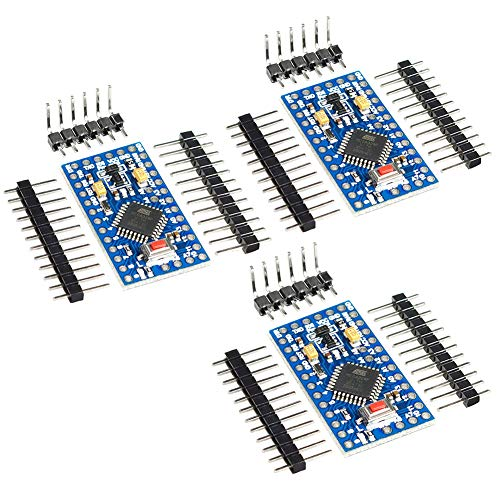 KeeYees, 3 schede di sviluppo Pro Mini 3,3 V 8 MHz ATmega328P compatibile con Arduino IDE