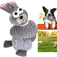 🌸ロマンチックなプレゼント🌸犬のぬいぐるみ , ペットの大臼歯のおもちゃ、ペットの大臼歯の犬の噛むおもちゃ、1PCSペットのクリーニングの歯のおもちゃ耐久性のある噛むクリーニングの歯動物の形犬のためのペット猫(Gray cute rabbit)