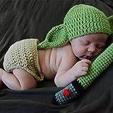 Disfraz de ganchillo hecho a mano para bebé, disfraz de Yoda para recién nacidos, recién nacidos, para fotografía de recién nacidos.