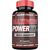 Maximum Power XL - Advanced Booster for Men - Increase Size, Strength, Stamina - Energy, Mood, Endurance Boost - All Natural Performance Supplement - 60 Capsules - Made in USA