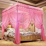 Zhihao Cama matrimonial Cortina for el Dormitorio, fangding Palacio Mosquitera Anti-Mosquito Cama Cortina-Beige_1.8m (Color : Pink, Size : 1.8m)