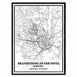Brandenburg an der Havel Deutschland Karte Wandkunst