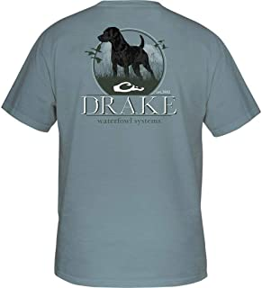 Drake Standing Black Lab Short Sleeve T-Shirt - Ice Blue