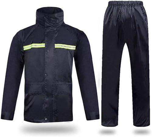 LIYONG Poncho de Pluie, Imperméable Adulte Split Imperméable Tibétain Pantalon De Pluie Set Poncho Double Couche Imperméable Réutilisable