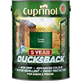 Cuprinol 5 Litre, 5 Year Ducksback Colours Forest Green