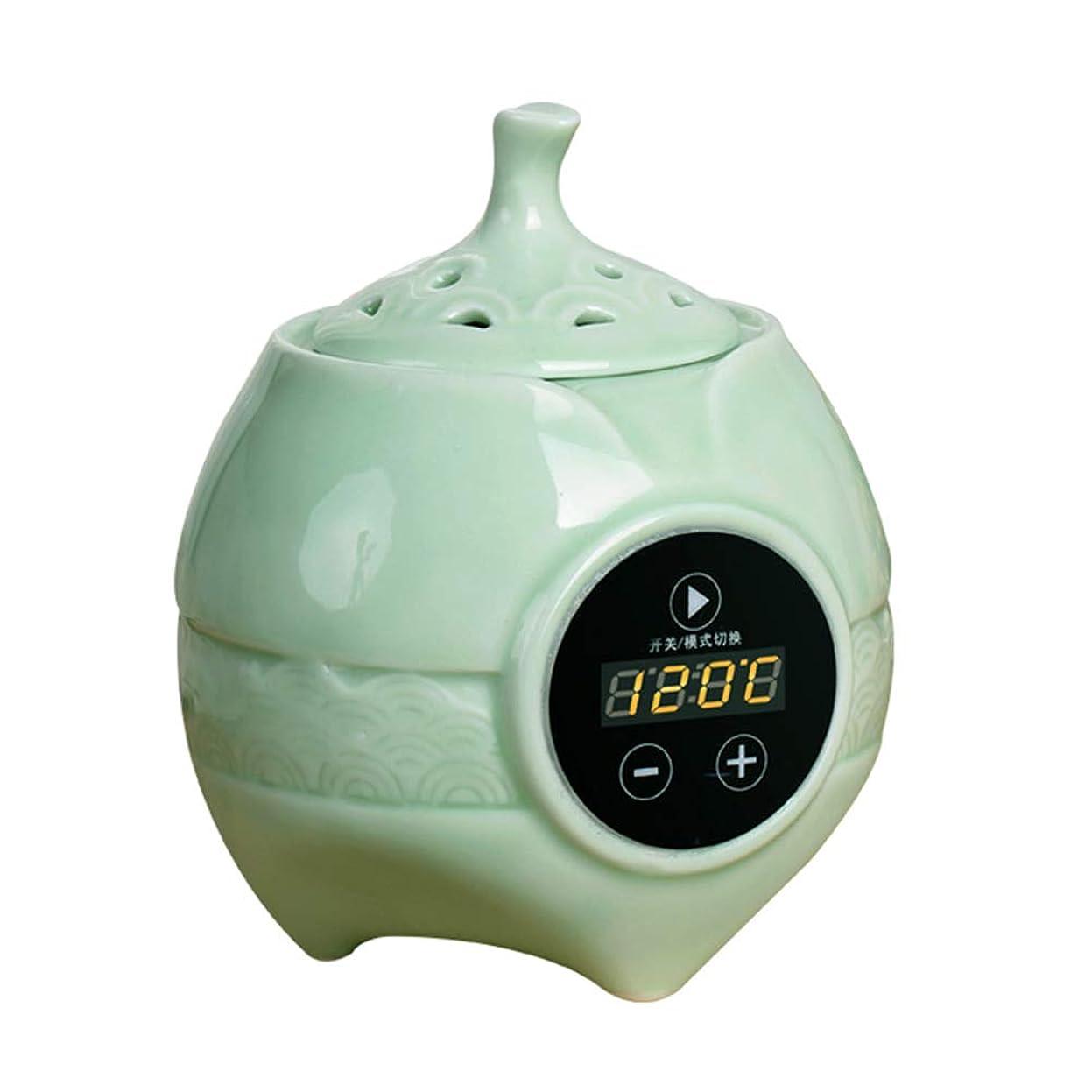 アプライアンス酸化する連続的アロマディフューザー LCD温度制御 香炉、 電気セラミック 寒天 エッセンシャルオイル アロマテラピーディフューザー、 ホーム磁器、 バルコニー、 ポーチ、 パティオ、 ガーデンエッセンシャル セラミック電気香炉