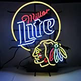 Urby 24'x20' Miller Lite Beer Chicago Sport Team Blackhawk Neon Light Sign Beer Bar Handicraft SP138