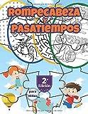 Rompecabezas y Pasatiempos para Niños: Encuentra las diferencias, Sopa de letras, Sudoku, Desafío laberintos y unir los puntos, 2.a Edición