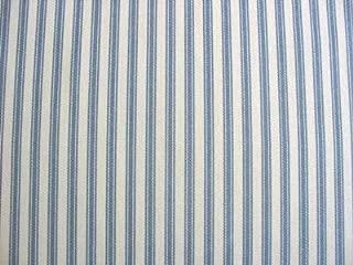 Ticking Fabric Upholstery Fabric Curtain Fabric Drapery Fabric Blue Striped 54