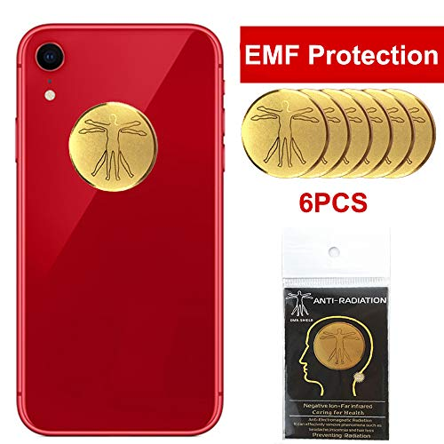 HUAGASION EMF Protection Cell Phone Sticker, 6Pcs -Anti Radiation Protector Sticker, iPad, MacBook, Laptop and All Electronic Devices
