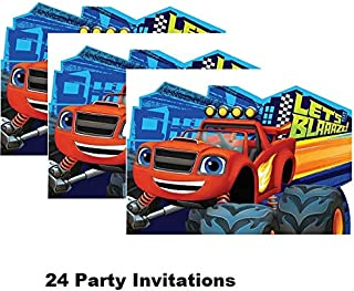 Hallm Blaze and The Monster Machines Decoration Party Birthday Invitations Invite 24PC