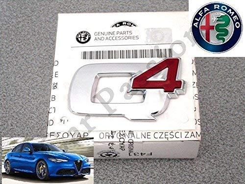 Escudo Q4 Alfa Romeo Julia Stelvio posterior original logo Sigla Rear Emblem