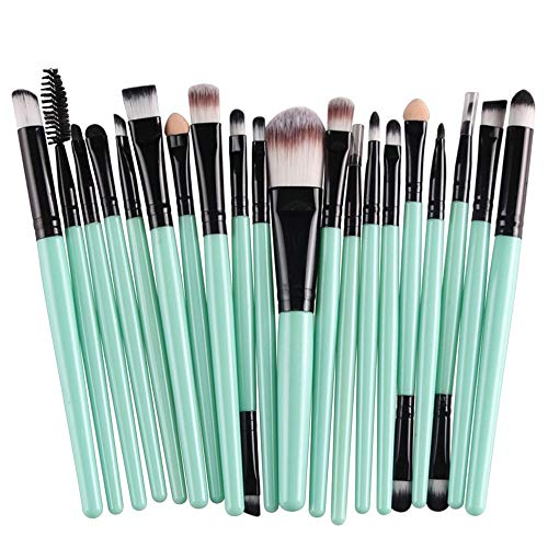 CINIDY 20 pcs Makeup Brush Set tools Makeup Toiletry Kit Wool Make Up Brush Set Black
