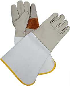 DAN Garden and Work Gloves Rose Prune Anti-Spine The Length to Elbows Protects Your Arms Useful Gardening Gloves for Women and Men in Horticulture Pruning Picking Pruning Etc