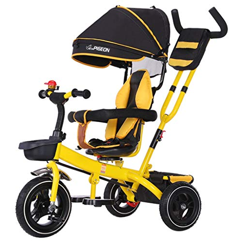 Purchase Moolo Children's Tricycle, Kids' Trikes Bicycle 1-3-6 Year Old Trolley Bicycle Awning Rever...