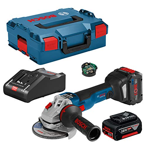 Bosch Professional GWS 18V-10 SC 06019G340H Akku-Winkelschleifer 125mm Incl. 2. batería Recargable, Incl. Maleta 1