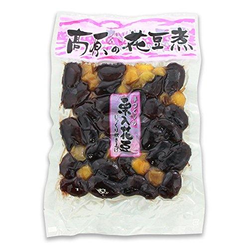高原花豆煮 栗入花豆(230g)/くり 煮豆//