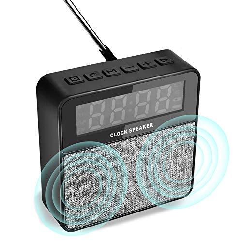 TinMiu Digital Alarm Clock with Wireless Bluetooth Speaker, Portable...