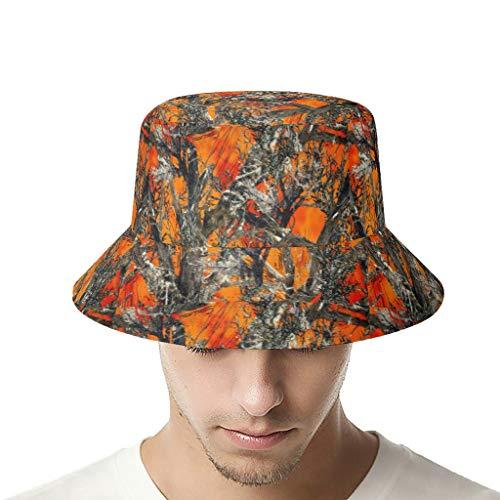 OwlOwlfan Muddy Girl Camo Wildfire Naranja Camuflaje Pesca Sombrero Unisex Protección UV Sombrero de Verano para Deportes al Aire Libre