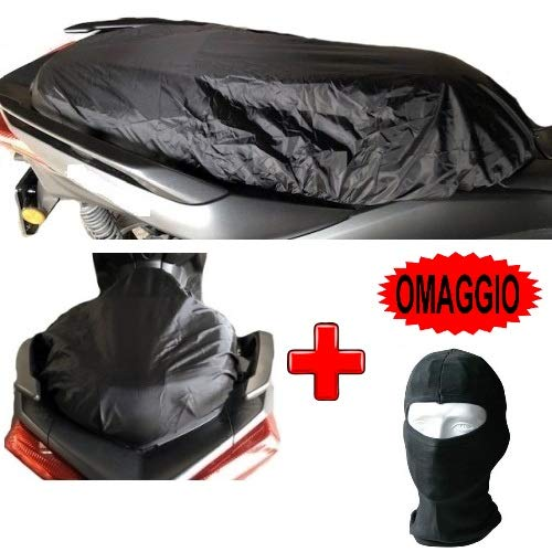 Compatible con Yamaha Majesty 400, Funda para sillín Impermeable, Tejido Oxford, Talla Funda Impermeable XL para Asiento de Moto Scooter maxiscooter Universal 120 x 75 cm