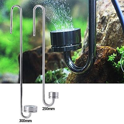 SOULONG Diffuseur de Co2 pour Aquarium Réacteur Diffuseur Dioxyde de Carbone en Acier Inoxydable pour Aquarium réservoir des Poissons