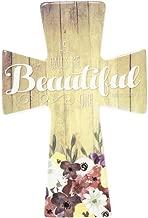 He Call Me Beautiful One 9 x 6 inch Porcelain Wall Cross