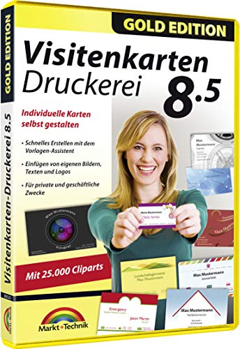 Visitenkarten Druckerei 8.5 - professionelle Visitenkarten gestalten und drucken für Windows 10 / 8.1 / 8 / 7