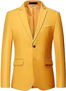 Two Buttons Men's Blue Suits Jackets Slim Fit Peak Lapel Tuxedo Blazer