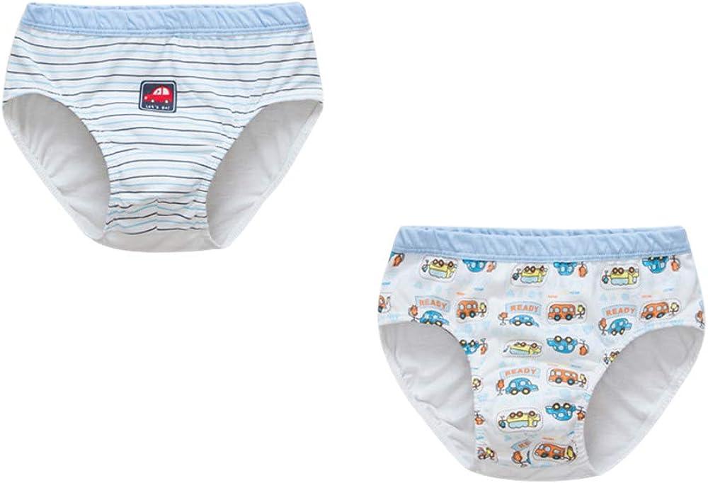 BOZEVON Little Boys 100% Cotton Briefs - Pack of 2 Kids Underwear Soft Panties