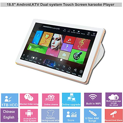Find Discount HAJURIZ 18.5'' Touch Screen Karaoke Player, 1TB HDD Preloaded with 20K Chinese Eng...