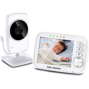 """Monitor de Beb/é con C/ámara 3,2/""""LCD Pantalla y Visi/ón Noctura,Construido en Canciones de Cuna VB603 iLifeSmart Vigilabeb/és Videovig/ía Inal/ámbrico para Bebes"""