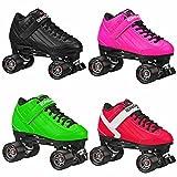 Stomp Factor 5 Black Quad Skates Color Green Size 4