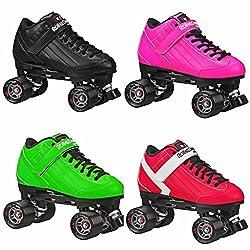 top 10 bullet speed skates Roller Derby Stomp Factor 5 Black Quad Skating Color Black Size 8
