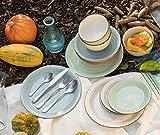 Mäser 929877 Bel Tempo I Frühstück-Service für 6 Personen im Vintage Look, handbemalte Keramik, Geschirr-Set 18 Teile, Steingut, Beige - 6