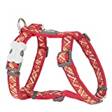 Red Dingo Flanno Design Pettorina per cani, 15 mm x 30-48 cm, rosso, S