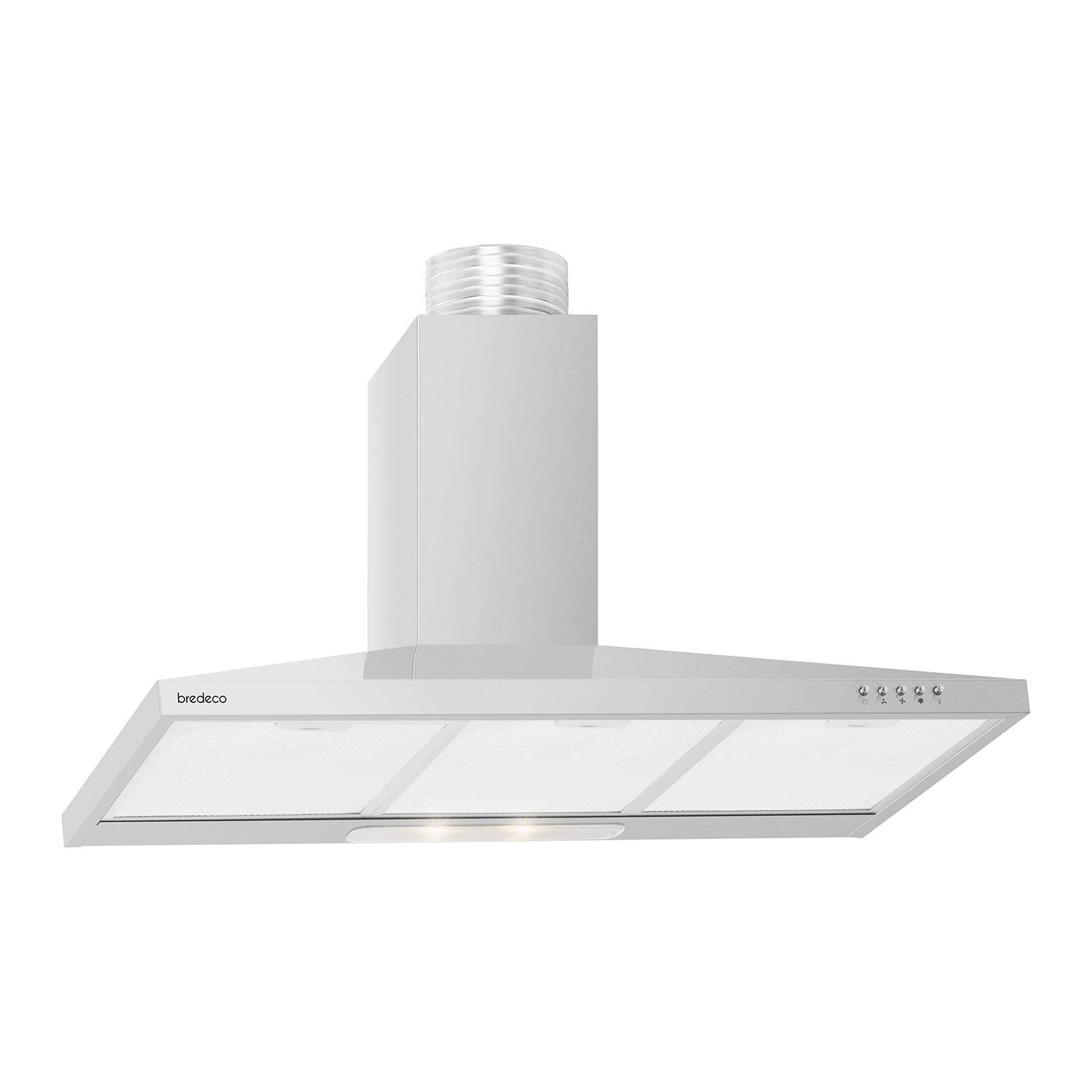 bredeco Campana De Pared Para Cocina BCCH-115D-90E (Iluminación LED, Filtros de grasa reemplazables, Nivel de ruido de 63 dB, 328,7 m³/h, 90 cm): Amazon.es: Grandes electrodomésticos