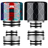 2 Pieces 810 Drip Tip 510 Drip Tip Replacement drip tips Mutual transformation of 810 Drip Tips and 510 Drip Tips Honeycomb Standard Resin Drip Tip Connector Cover for Ice Maker Coffee Machine
