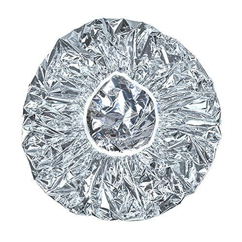Seasons Shop 2019 - Gorro de Ducha desechable con lámina de Aluminio, Aislamiento térmico, para peluquería, peluquería, SPA, Viaje, Hotel, Ducha