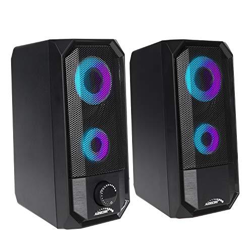 Audiocore AC845 Bluetooth-Lautsprecher mit LED-Hintergrundbeluchtung Stereo PC-Lautsprecher 10W RMS USB-Stromversorgung Kompakt