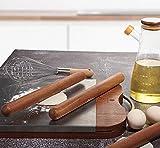 mwant Mattarello in Legno massello Strumenti per la Cottura Domestica Adatti per la Cottura della casa di Cottura dei Biscotti per Pizza con Strumenti di Dimensioni 50 cm