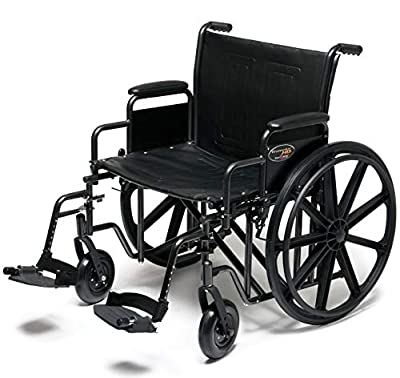 Everest & Jennings 3G010450 Traveler HD 22 X 18 Detachable Full Arm, Elevating Legrest